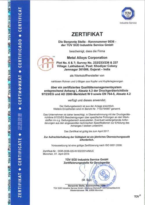 Quality Assurance - Metal Alloys Corporation